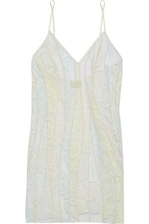 MYLA Women Nightdresses & Shirts - Woman Bywater Street Embroidered Lace And Tulle Chemise Ecru Size L