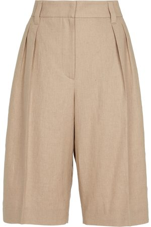 Brunello Cucinelli Exclusive to Mytheresa – Cotton and linen Bermuda shorts