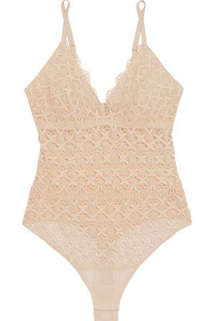 Cosabella Woman Alessia Stretch-crocheted Lace Thong Bodysuit Size L