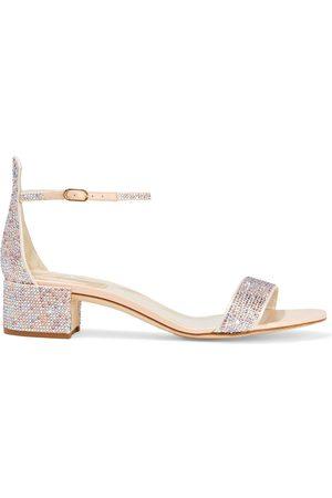 RENÉ CAOVILLA Woman Crystal-embellished Satin Sandals Baby Size 34