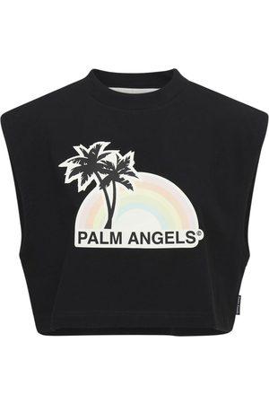 Palm Angels Women T-shirts - Lvr Exclusive Rainbow Cotton T-shirt