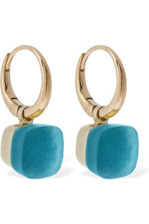Pomellato Nudo Gelè 18kt Earrings W/sky Blue Topaz