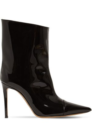 ALEXANDRE VAUTHIER Women Ankle Boots - 105mm Faux Patent Leather Ankle Boots