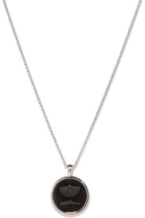 Tom Wood Clytia Onyx & Sterling Pendant Necklace - Mens