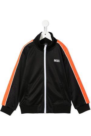 Diesel Boys Summer Jackets - Logo-print zip-up track jacket