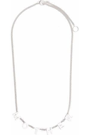 Jil Sander Men Necklaces - Mother lettering necklace