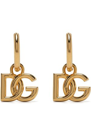 Dolce & Gabbana Men Earrings - Logo-plaque hoop earrings