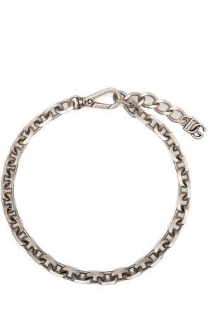 Dolce & Gabbana Men Necklaces - Chain-link logo-plaque necklace