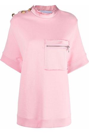 AZ FACTORY Women Short Sleeve - Zip chest pocket T-shirt