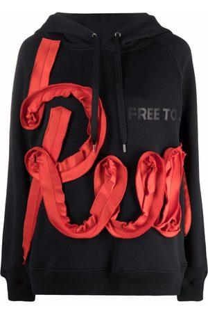 AZ FACTORY Run appliqué oversized hoodie