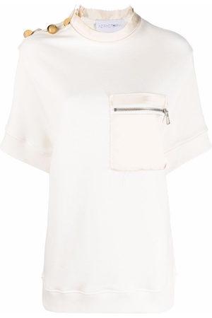 AZ FACTORY Zip-chest pocket T-shirt