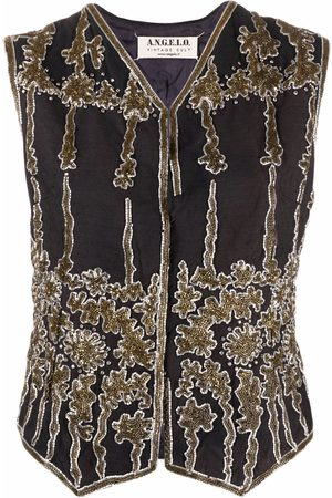 A.N.G.E.L.O. Vintage Cult Women Waistcoats - 1990s V-neck sequinned waistcoat