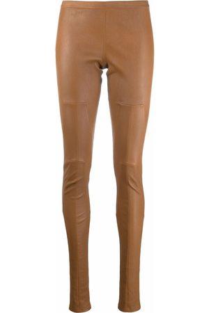 Rick Owens Low-rise leather leggings