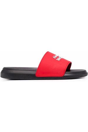 Alexander McQueen Men Sandals - Logo-print pool slides