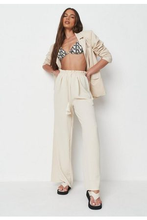 Missguided Rope Tie Waist Wide Leg Trousers