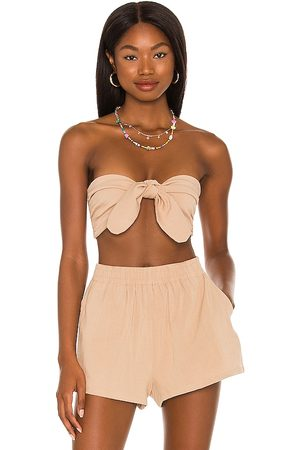 Lovers + Friends Whitney Top in Cream in . Size XS, S, M, XL.