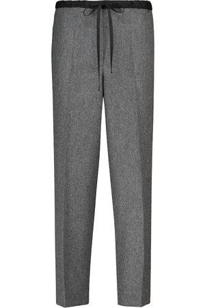 Jil Sander High-rise slim wool-blend pants