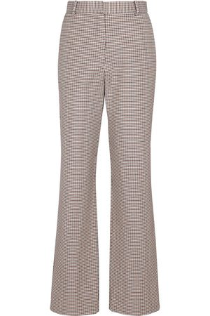 MAGDA BUTRYM Women Trousers - Houndstooth high-rise straight pants