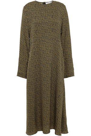 Samsøe Samsøe Women Midi Dresses - Samsøe Φ Samsøe Woman Printed Satin-crepe Midi Dress Size L