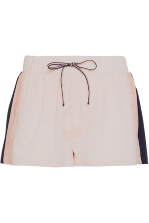 The Upside Women Sports Shorts - Woman Color-block Shell Shorts Navy Size L
