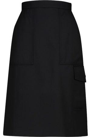 Moncler High-rise A-line midi skirt
