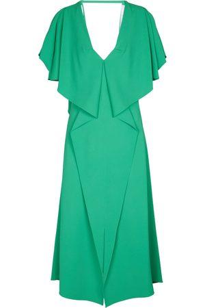 Roland Mouret Dolan stretch–crêpe midi dress