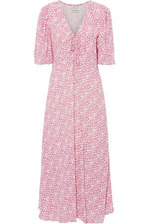 Nicholas Women Maxi Dresses - Woman Danielle Bow-detailed Printed Crepe Maxi Dress Size 0