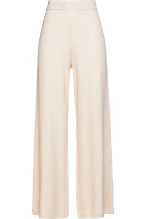 The Upside Women Wide Leg Trousers - Woman Igor Knitted Wide-leg Pants Blush Size L