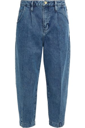 Frame Woman Distressed High-rise Tapered Jeans Mid Denim Size 23