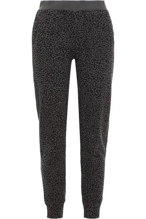 ATM Anthony Thomas Melillo Woman Leopard-print French Cotton-terry Track Pants Dark Gray Size L