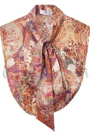 Peter Hahn Blouse collar ornamental print multicoloured size: 001