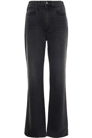 Frame Women Straight - Woman High-rise Straight-leg Jeans Charcoal Size 27