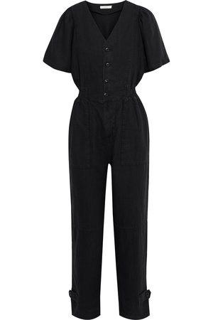 Joie Women Jumpsuits - Woman Bramwell Cropped Linen Jumpsuit Size L