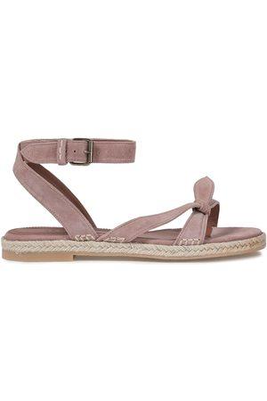Bash Women Sandals - Woman Knotted Suede Sandals Antique Rose Size 36