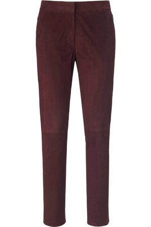 Fadenmeister Berlin Ankle-length leather trousers size: 10