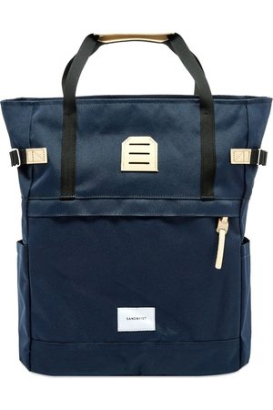 Sandqvist Women Purses & Wallets - Mochila Roger - Navy with Natural Leather