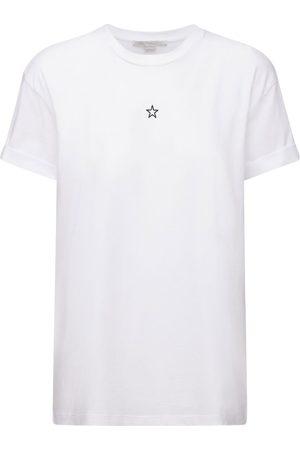 Stella McCartney Star Embroidered Cotton Jersey T-shirt