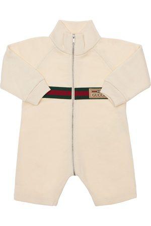 Gucci Logo Cotton Romper