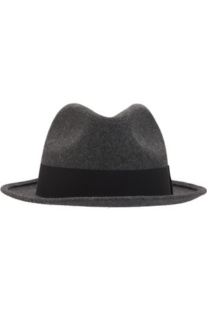 Saint Laurent Men Hats - Fedora Hat W/ Grosgrain Ribbon