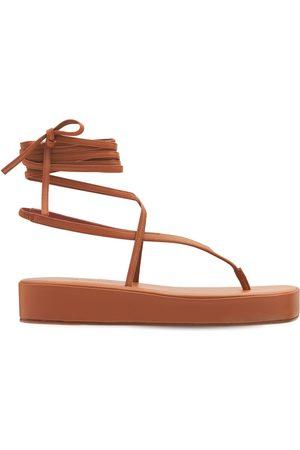 AMINA MUADDI Women Sandals - 35mm Jamie Leather Thong Sandals