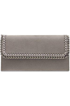STELLA MCCARTNEY Falabella Shaggy Faux Leather Wallet