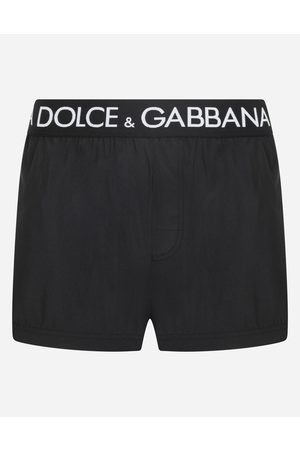 Dolce & Gabbana Men Swim Shorts - Collection - Short swim trunks with branded stretch waistband male 2