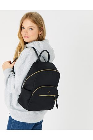 Accessorize Suitcases - Nell Nylon Backpack Black