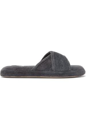 SKIN Kyoto Crossover-strap Organic-cotton Terry Slides - Womens