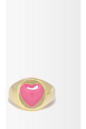 WILHELMINA GARCIA Heart Enamel & -vermeil Signet Ring - Womens