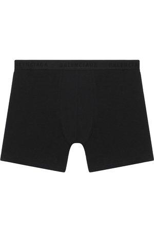 Balenciaga Men Boxer Shorts - Logo-trim stretch boxer shorts
