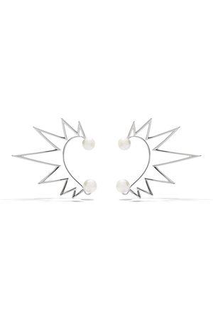 TASAKI 18kt white gold Nacreous South Sea pearl ear cuffs