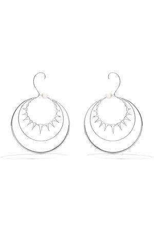 TASAKI Women Earrings - 18kt white gold Nacreous South Sea pearl earrings
