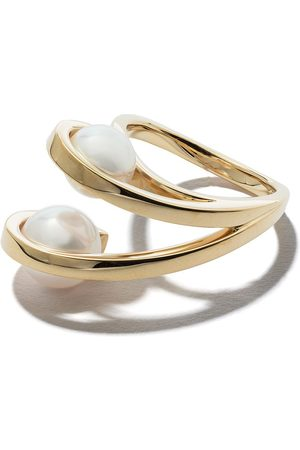 Tasaki 18kt yellow Aurora Akoya pearl ring