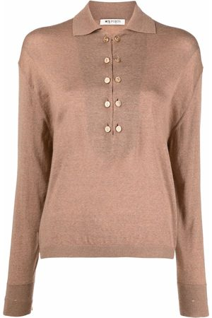 Ports 1961 Long-sleeve wool polo top - Neutrals